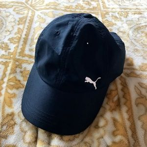 Black Puma Hat One Size Women